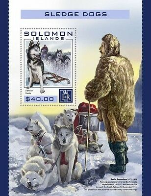 Z08 IMPERFORATED SLM16404b SOLOMON ISLANDS 2016 Sledge dogs MNH ** Postfrisch