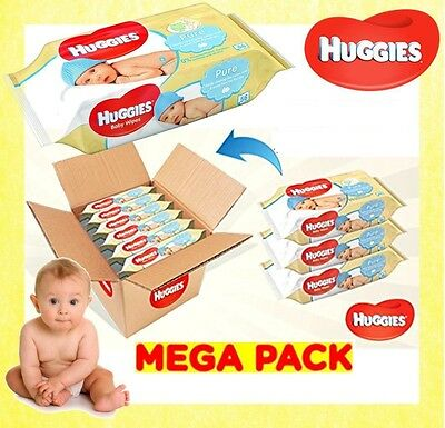 Huggies® Pure Wipes 72 Wipes IN EACH PACK Natural Gentle Cleansing Baby Wet Wipe
