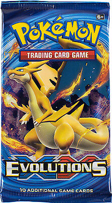 Pokemon Evolutions Booster Pack  XY Single sealed Packs TGC 2016 Trading Cards