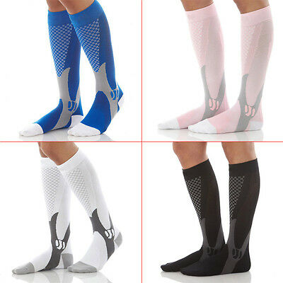 1 Pair Compression Sports Stockings Running Marathon Men Riding Bike Long Socks