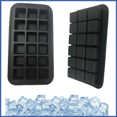 18 Cubes TALA Perfect Square Ice Cube Making Tray EXTRA SOFT Silicone Mould BLK
