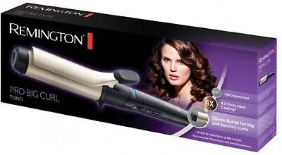 Remington CI5338 Pro 38mm Ionic Hair Curler Curling Iron Tong Wand Styler New