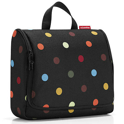 NEW Extra Large Hanging Wash Bag Dots with mirror and hook