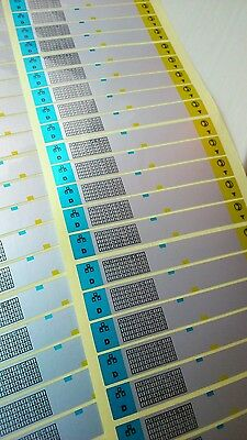 60x Cable labels,network cable, telephone cable markers, tear proof, writable