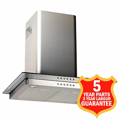 60cm Cooker Hood Chimney Air Extractor Fan 608m3/h Box60IX MADE IN ITALY