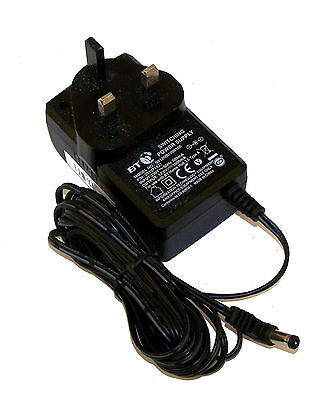 BT 253371437 12VDC 1A UK AC Adapter with Barrel Connector | S012NB1200100