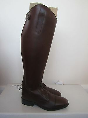 R&Co Long Leather Field / Riding Boots in Brown - Size 5