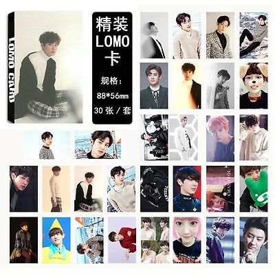 30pcs /set Kpop EXO CHANYEOL For Life Personal Photocard Poster Lomo Cards