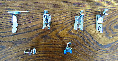 Sewing Machine Foot Feet attachments 6 various shapes and sizes