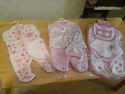 Bundle of baby girls clothes  size - new born  0-3 months  BNWT