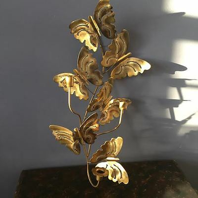 Home interior HOMCO metal butterfly candle holder wall hanging decor
