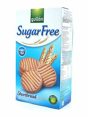 Gullon Sugar Free Shortbread Biscuits 330g (Box of 10)