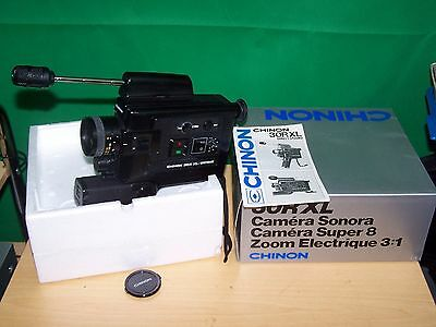 Chinon 30R XL super 8 sound cine film camera boxed with Instructions