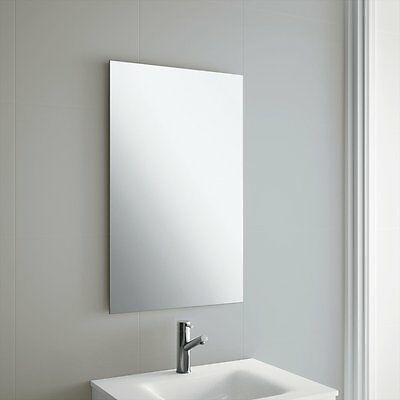 Frameless Bathroom Mirror with Wall Hanging Fixings
