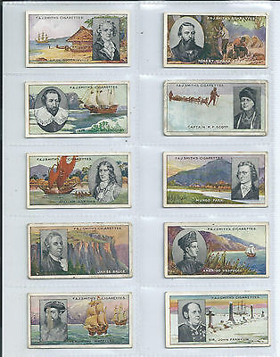 Set of 50 F.J.Smith Famous Explorers in average condition issued in 1911