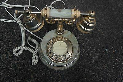 ASTRAL-ONYX COLLECTION GOLD PLATE FINISH TELEPHONE *Vintage*Operational*Rare*