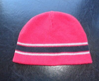 Warm  Knitted Cotton  Red Cap for Baby Boy  Sz 6-12 mos