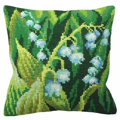 Collection D'Art - Cross Stitch Cushion Front Kit - Lily of Valley Left - CD5120