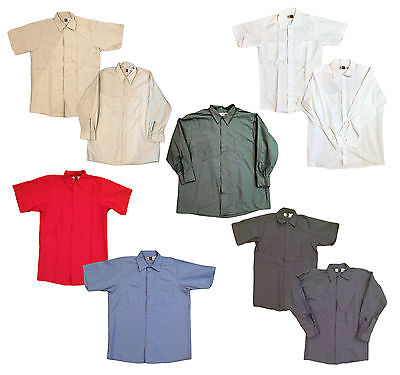 NEW! Men's Industrial Work Shirts Mechanic Technician Uniform WEARGUARD