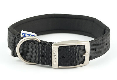 Ancol Heritage Nylon Padded Dog Collar Assorted Colours