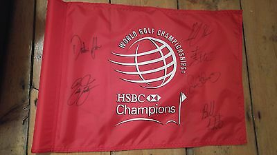 WGC-HSBC Champions Golf flag signed by McIlroy, Fowler, Stenson, Watson + more