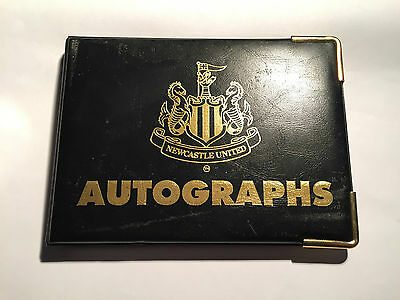 Newcastle United FC Autograph Book with 12 Player's Autograph's