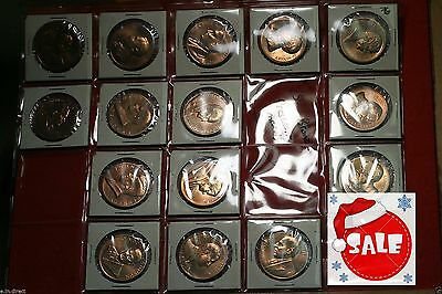 Bulk Lot of 15 Bronze Presidential Medals Free S H!!!