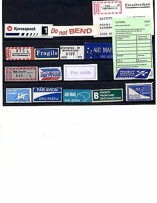 Air Mail And Registration Labels (Lot 0373)