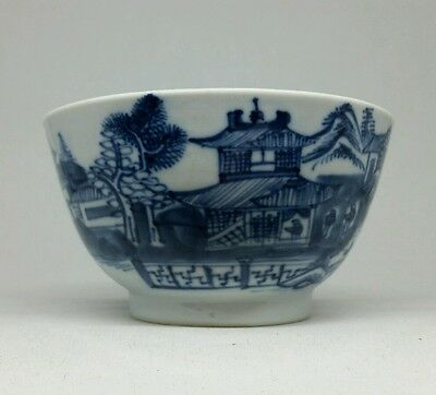 Fine Chinese Blue and White Porcelain Cup Swastikas Moths Landscape 18th/19thC