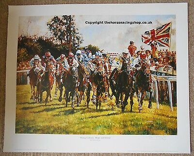 Flying Colours Benny The Dip by David Dent Fine Art LE Horse Racing Picture