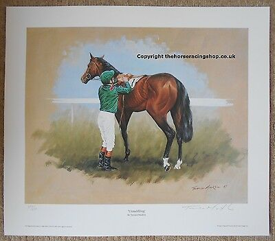 Unsaddling in the Paddock  Aga Khan's Colours Fine Art Picture Horse Racing