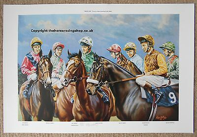 Sadlers Wells Teenoso Time Charter Print  Pat Eddery Willie Carson Steve Cauthen