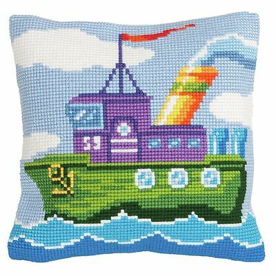 Collection D'Art - Cross Stitch Cushion Front Kit - Mighty Tug - CD5175