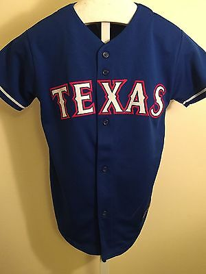 Texas Rangers Majestic Jersey, Youth X-Large