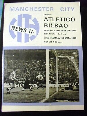Manchester City V Atletico Bilbao Euro Cup Winners Cup Last 16  2Nd Leg 1969