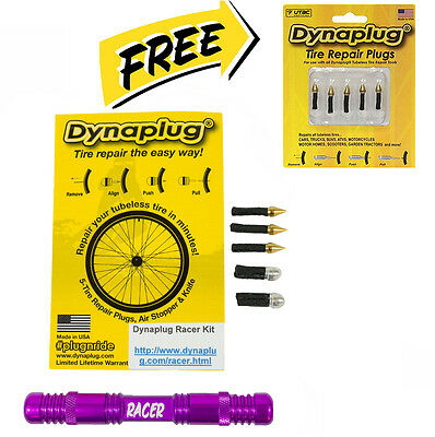 NEW Dynaplug® Racer Tubeless Tyre Puncture Repair Tool Enduro MTB Cycling