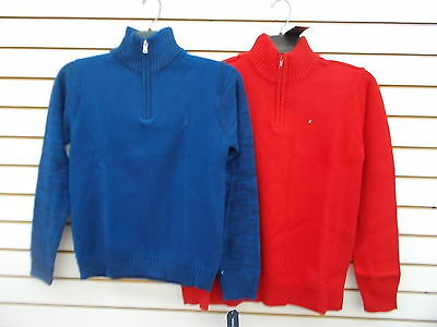Boys Tommy Hilfiger & Nautica $44.50-$49.50 Blue or Red Sweater Sz 10/12-  16/18