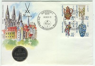 Coin 100 Cover 1985 Germany Meissen Cathedral