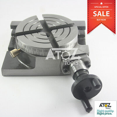 """Rotary Table 3"""" / 75mm Horizontal & Vertical Model Milling Precision New"""