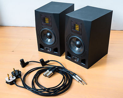 Adam A5X Studio Monitors Pair with Isolation Pads