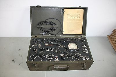 WORKING I-177 Signal Corps ( Hickok ) Dynamic Mutual Conductance Tube Tester