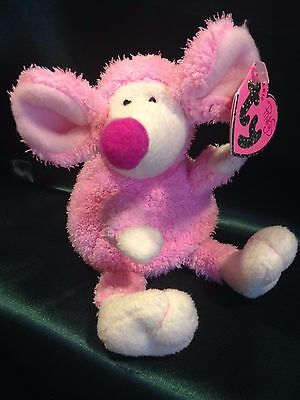 Ty Beanie Babies -  Valentines Day - Pinkys Collection - Ratzo (Mouse)