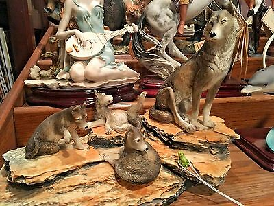 "DEAR ""Wolf Pack"" Sculpture by A. Belcari"