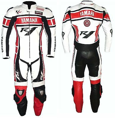 YAMAHA-R1-1-OR-2 PC Motorbike Leather Suit Men Racing Leather Suit (Replica)
