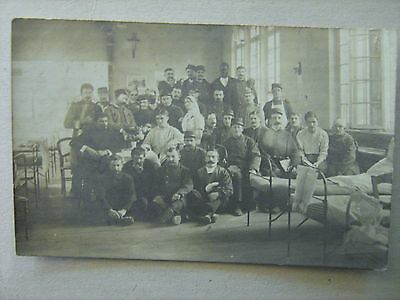 Cpa  Photo   Hopital Militaire Le Havre  Tampon Medecin 32°Corps 1914  1°Guerre