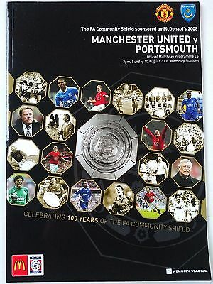 2008 FA Community Shield Manchester United v Portsmouth Mint condition