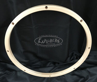 "Wood Drum Hoop 16"" 8 Lug 24 ply Wood Rim"