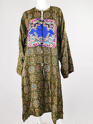Chinese 70s Silk Shatung Embroidered Robe