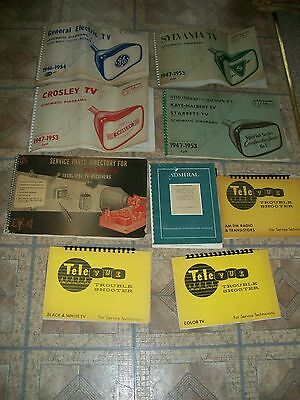 9 Vintage TV schematic diagrams manuals  by Wallace's Telaides Televue