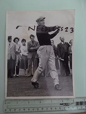 Golf British Open St. Andrews 1955 Press photo by Cowper Ed Furgel USA
